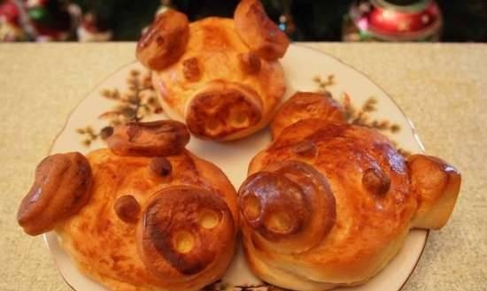 """Buns """"Fabulous disgusting"""" or Christmas pigs for good luck"""