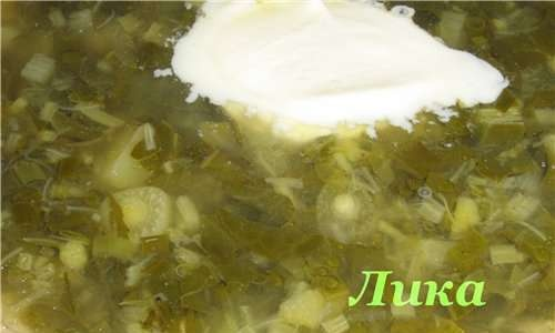"""Green cabbage soup """"Spring"""""""