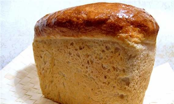 """Wheat bread """"Lacy"""" with sourdough"""