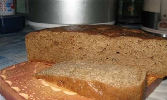 Bread in a slow cooker without kneading