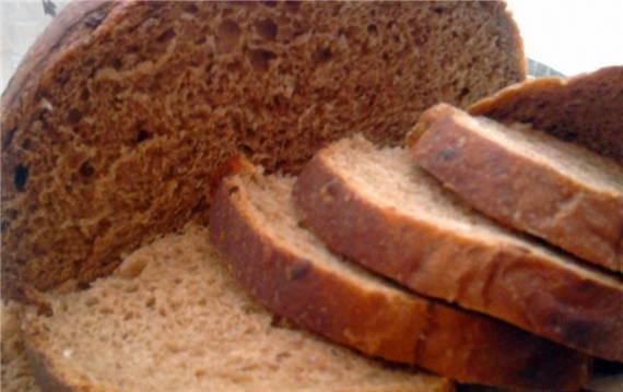 Wheat wheat-rye bread with onions in the oven