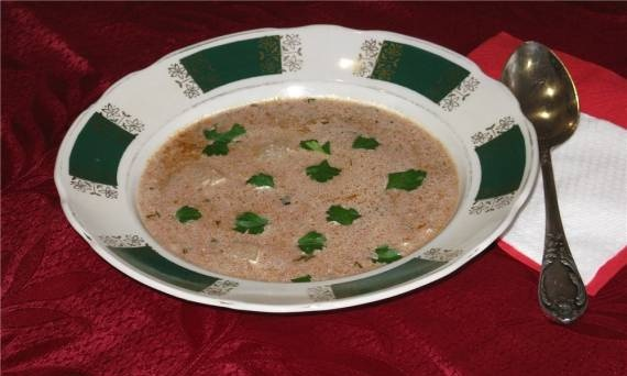 Soup with nuts