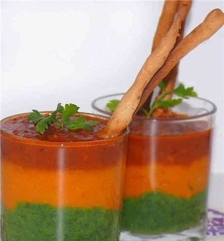 """Vegetable puree soup """"Make way for spring!"""""""