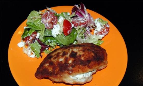 Chicken breasts with cheese filling