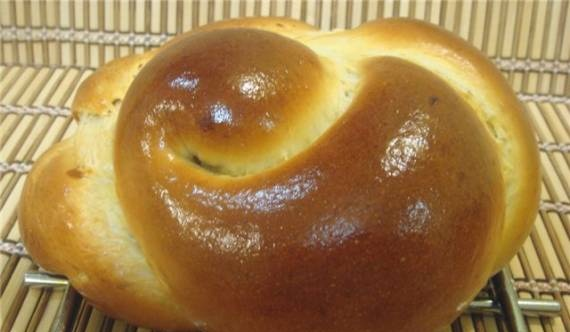 Challah by Maggie Glezer in the oven