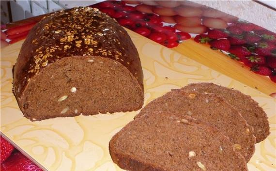 Fragrant bread with cereals in the oven