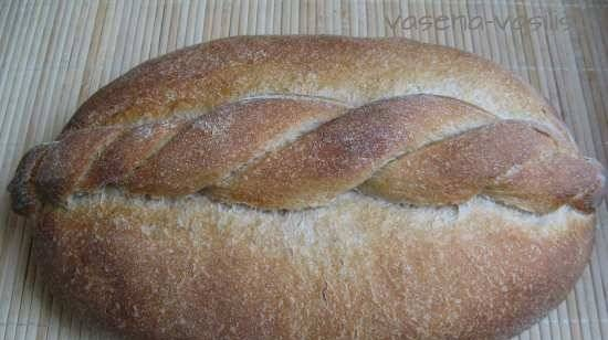 Burgundy bread with ribbon