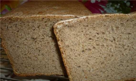 Rye-wheat bread with mashed potatoes (in the oven)