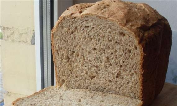 100% whole grain bread with seeds