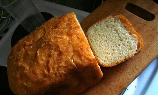 Wheat-rye bread with cheese (bread maker)