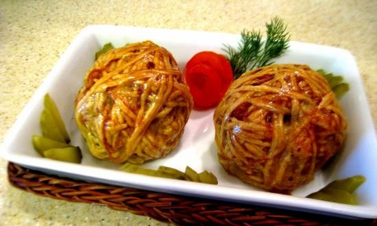 Balls with meat