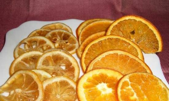 Candied Lemons and Oranges Chips