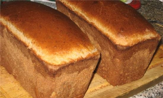 Whole wheat bread on kefir with semolina (oven)