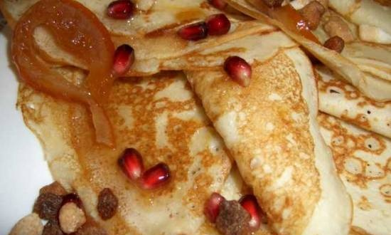 Pancakes with kefir and vodka