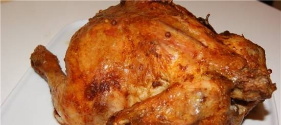 Chicken baked like pastroma