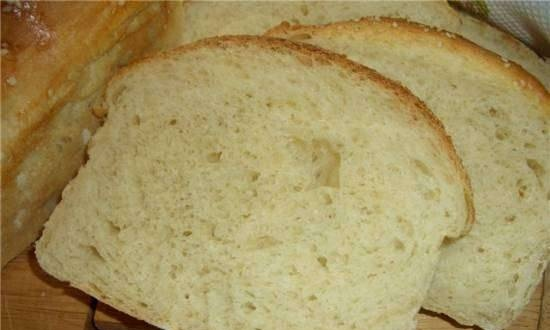 Wheat bread with potatoes and cottage cheese (oven)