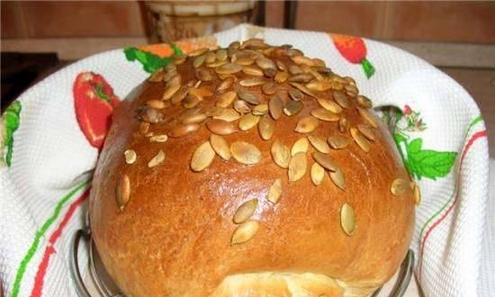 Simple hearth bread on potatoes (oven)