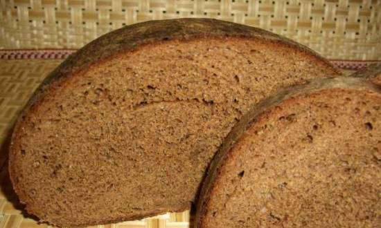 Whole grain wheat-rye bread with malt, with lingonberry jam (oven)
