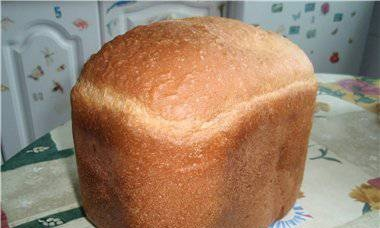 Wheat bread on cottage cheese (bread maker)