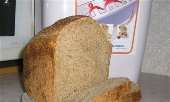 Philips. Wheat rye bread with bran