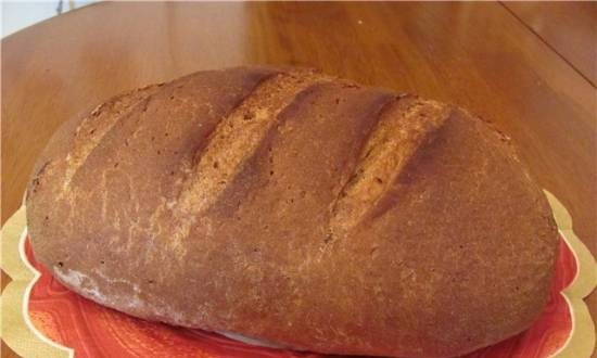 Wheat-rye bread made from three types of flour