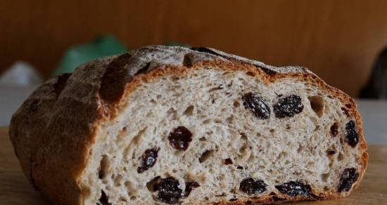 Bread with caraway seeds and raisins (oven)