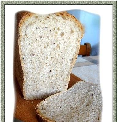 Whole grain bread with semola and flaxseed