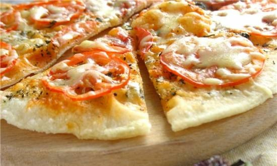 Pizza in a frying pan