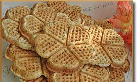 Waffles with poppy seeds