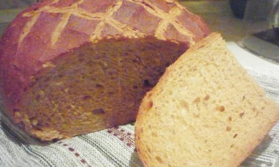 Wheat-rye bread with whole grain flour (oven)