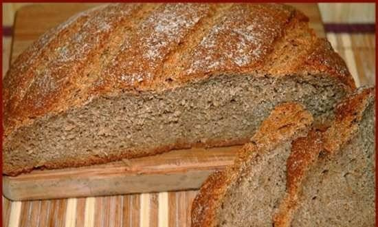 """Rye bread """"Without nothing"""" (oven, bread maker, slow cooker)"""