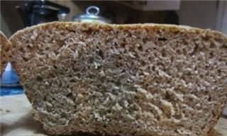 Rye-wheat yeast bread without sourness with garlic in the oven