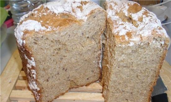 4-grain bread with sesame and flaxseed
