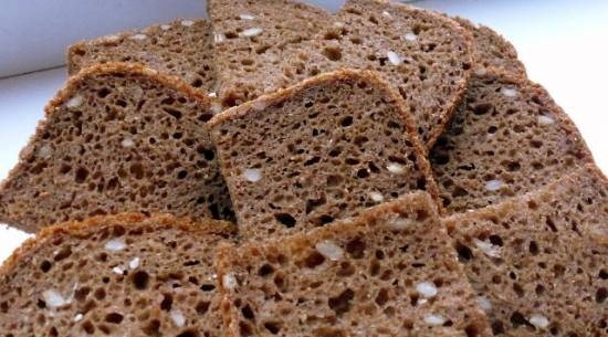 Rye bread with flax flour in a bread maker