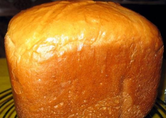 Butter bread with sesame flour in a bread maker