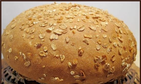 Wheat bread with cz oat flour (oven)