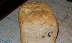 Bread with hazelnuts and dried fruits in a bread maker