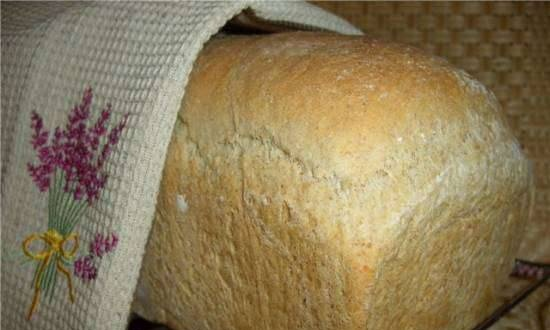 Bread with Italian whole grain flour on cottage cheese (oven)