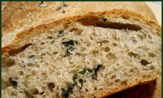 Bread with algae from R. Bertine (oven)
