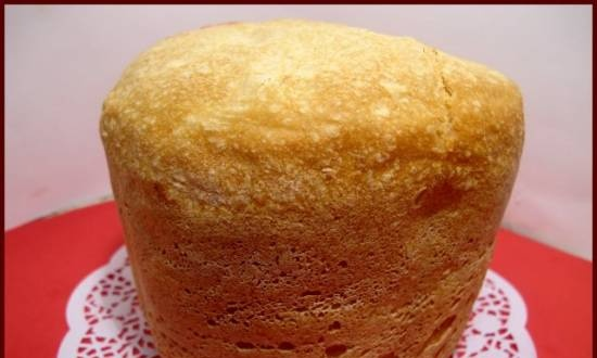 Bread with mixed flour (bread maker)