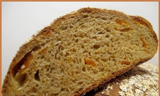 Whole grain bread with oatmeal and dried apricots (R. Bertine)