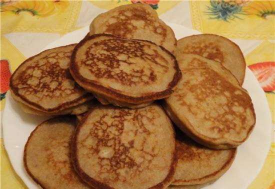Buckwheat pancakes (with honey, without)