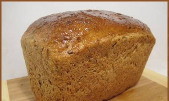 Bread with seeds and carrots or pumpkin (oven)