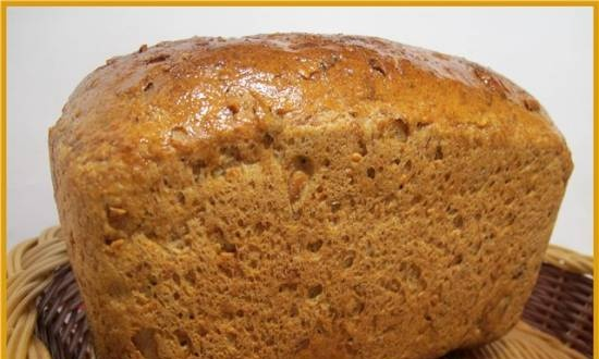 Bread with cottage cheese and pumpkin seeds (oven)