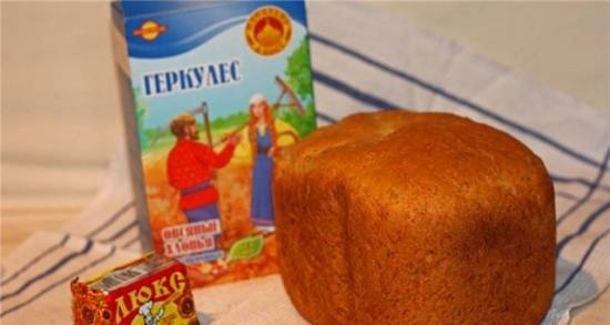 Panasonic SD-2501. Oat bread for every day (25%)