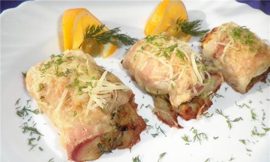 """Fish rolls with filling """"To the delight of the beloved"""""""