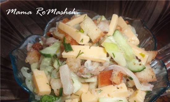 Herring and cheese salad