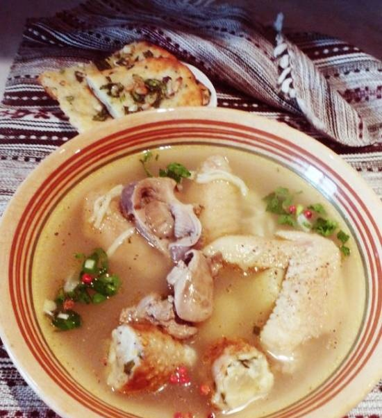 Soup with giblets for Gleb Zheglov