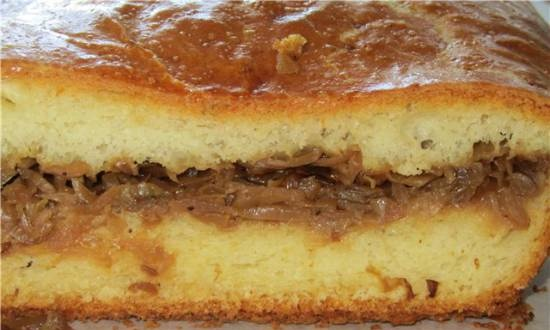Yeast pie Nonsweet with any filling