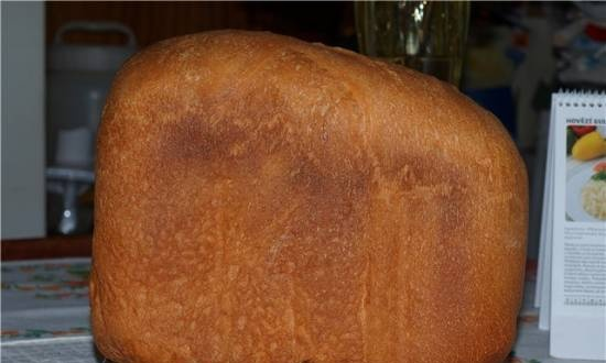 """Moulinex. Variations on the theme """"Basic recipe for white bread for the Moulinex bread machine"""""""